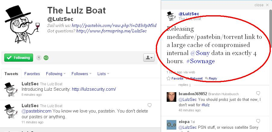 Lulz Security: lulzsecurity com Launched | The Lulz Boat