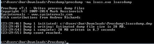 lsass prodump